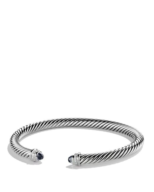 David Yurman - Cable Classics Bracelet With Black Onyx & Diamonds - Lyst