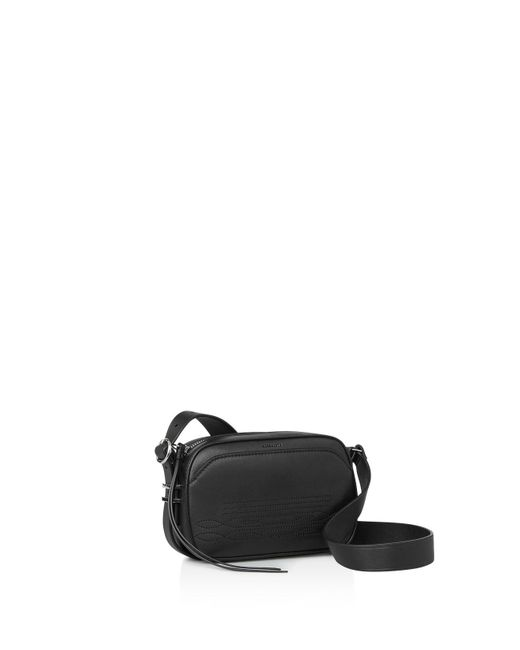 AllSaints | Black Cooper Small Leather Camera Bag for Men | Lyst