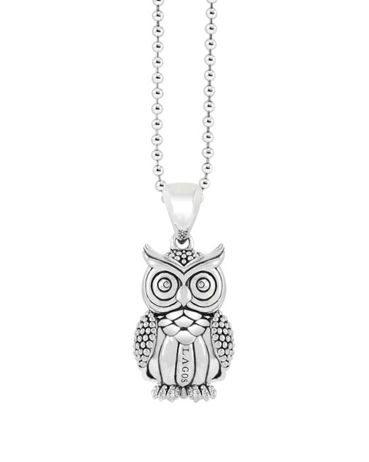 Lagos - Metallic 'rare Wonders - Owl' Long Talisman Necklace - Lyst
