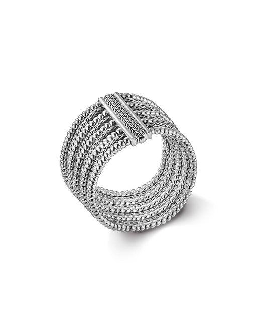 John Hardy | Metallic Bedeg Silver Multi-row Bracelet | Lyst