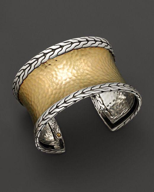 John Hardy | Metallic Palu 18k Gold And Silver Medium Cuff | Lyst