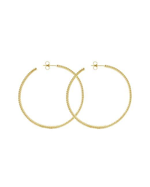 Lagos | Metallic 18k Gold Hoop Earrings | Lyst