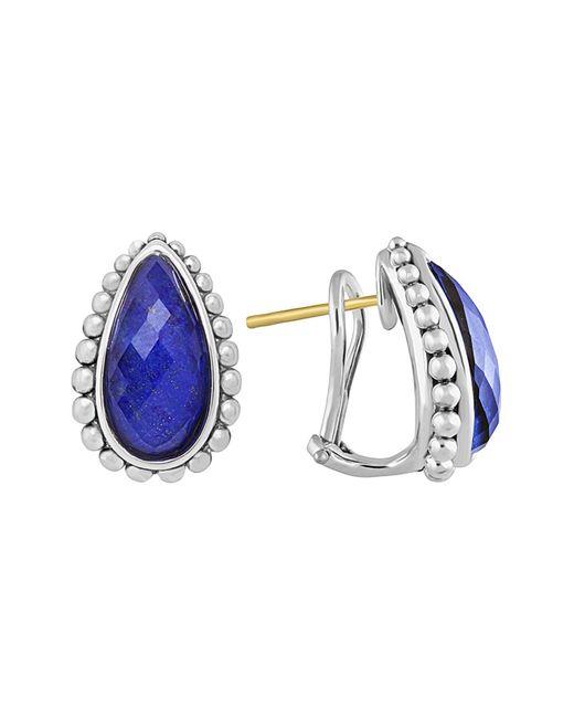 Lagos | Blue Lapis Doublet Half Hoop Earrings | Lyst