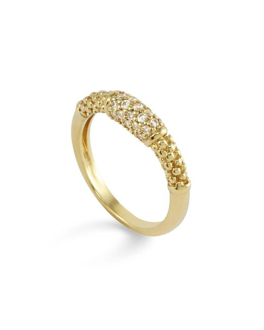 Lagos | Metallic 18k Gold And Diamond Ring | Lyst