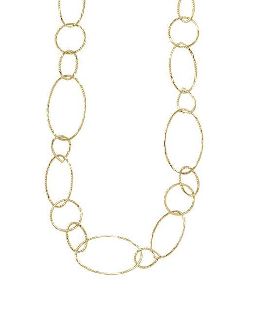"Lagos   Metallic 18k Gold Link Necklace, 24""   Lyst"
