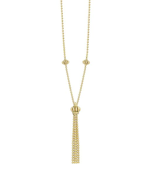 "Lagos | Metallic Tassel Necklace, 16"" | Lyst"