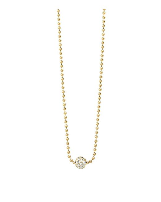 Lagos | Metallic 18k Gold And Diamond Necklace, 16"