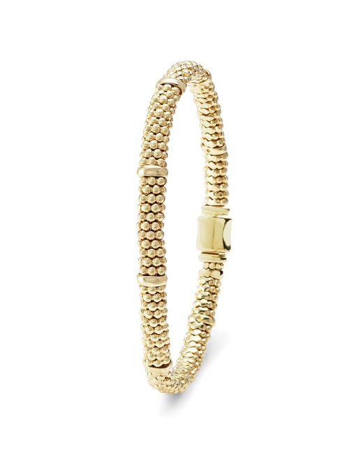 Lagos | Metallic 18k Gold Beaded Bracelet | Lyst