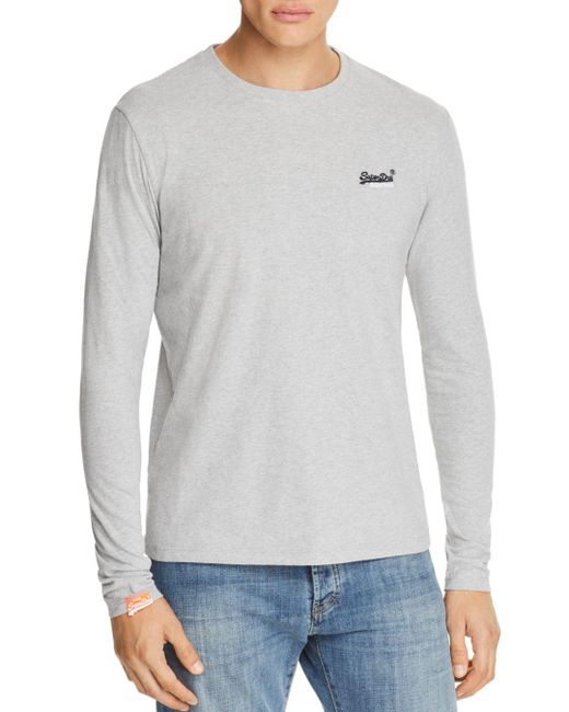 Superdry - Gray Orange Label Vintage Embroidered Long Sleeve Tee for Men - Lyst