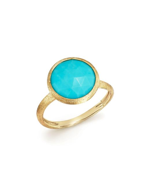 Marco Bicego | Metallic 18k Yellow Gold Jaipur Ring With Turquoise | Lyst