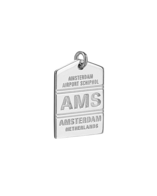 Jet Set Candy - Metallic Ams Amsterdam Luggage Tag Charm - Lyst