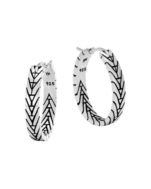 John Hardy - Metallic Sterling Silver Modern Chain Silver Small Hoop Earrings - Lyst