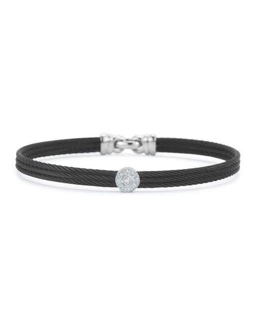 Alor - Diamond Black Cable Bangle - Lyst
