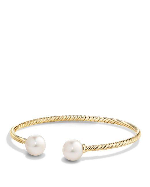 David Yurman - Metallic Solari Pearl Bracelet With Cultured Akoya Pearls & Diamonds In 18k Gold - Lyst