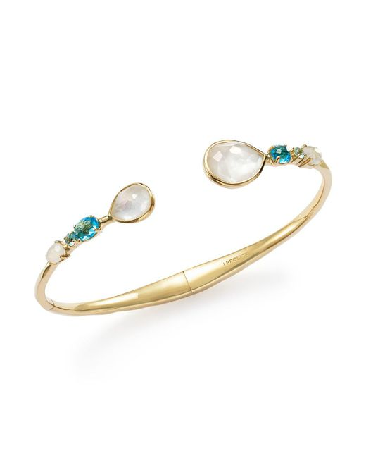 Ippolita | Metallic 18k Yellow Gold Rock Candy Mixed Doublet Hinged Bangle In Raindrop | Lyst