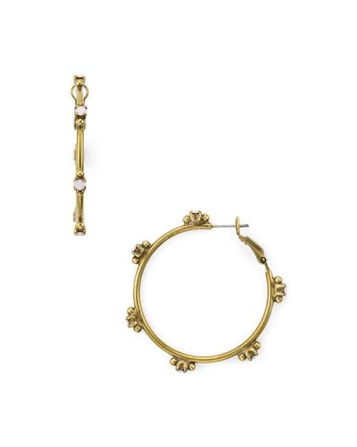 Sorrelli - Multicolor Peony Studded Hoop Earrings - Lyst