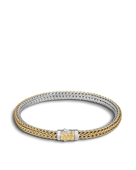 John Hardy | Metallic Classic Chain Gold & Silver Extra-small Reversible Bracelet | Lyst