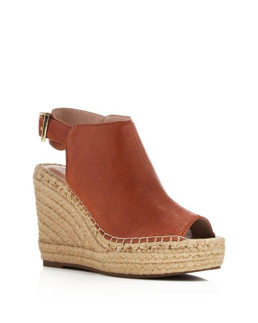 Kenneth Cole | Brown Olivia Espadrille Wedge Sandals | Lyst