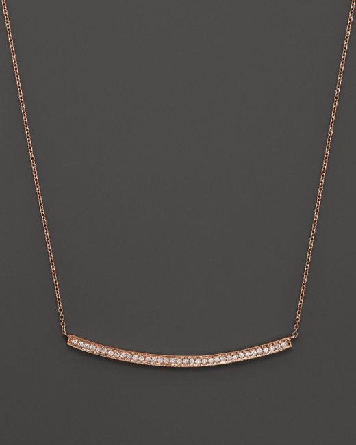 Dana Rebecca | Pink 14k Rose Gold Diamond Sylvie Rose Long Necklace, 17"