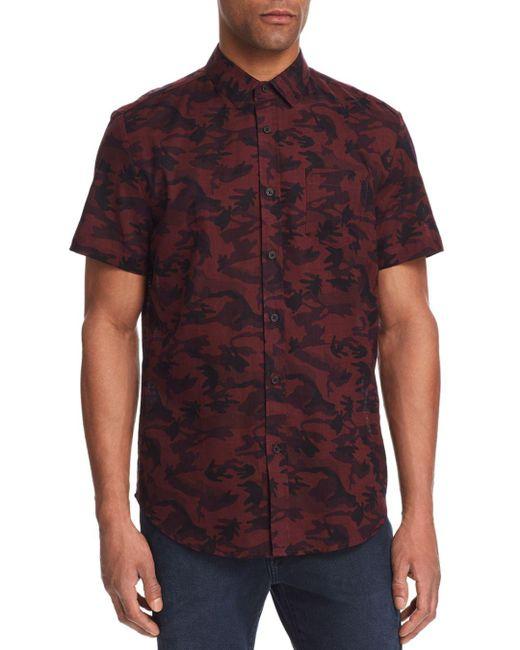 Sovereign Code - Red Stromsburg Print Regular Fit Button-down Shirt for Men - Lyst