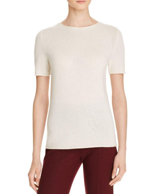 Theory - White Tolleree Cashmere Sweater - Lyst