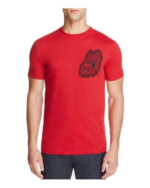 McQ Alexander McQueen | Red Bunny Graphic Tee for Men | Lyst