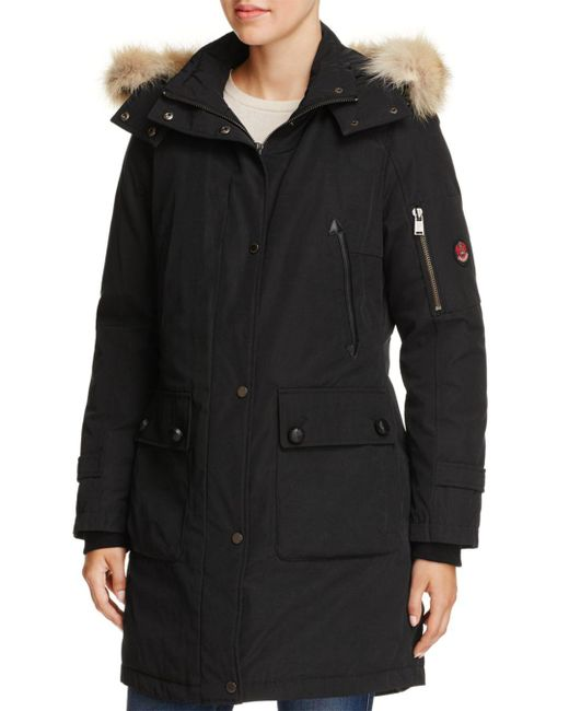 Pendleton - Black Jackson Fur Trim Down Coat - Lyst