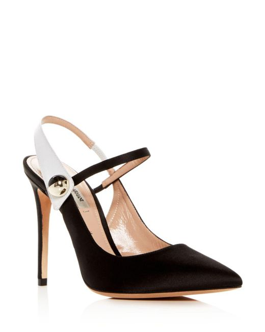 Giorgio Armani - Black Women's Decolette Satin Slingback Pointed Toe Pumps - Lyst