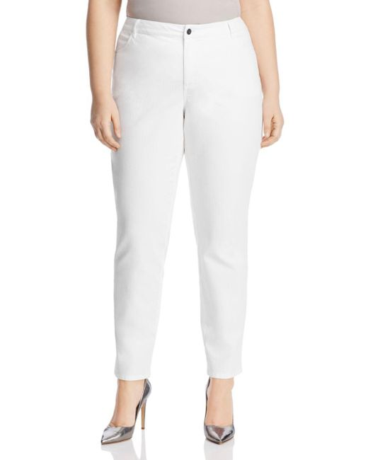 Lafayette 148 New York Curvy Slim Jeans In White