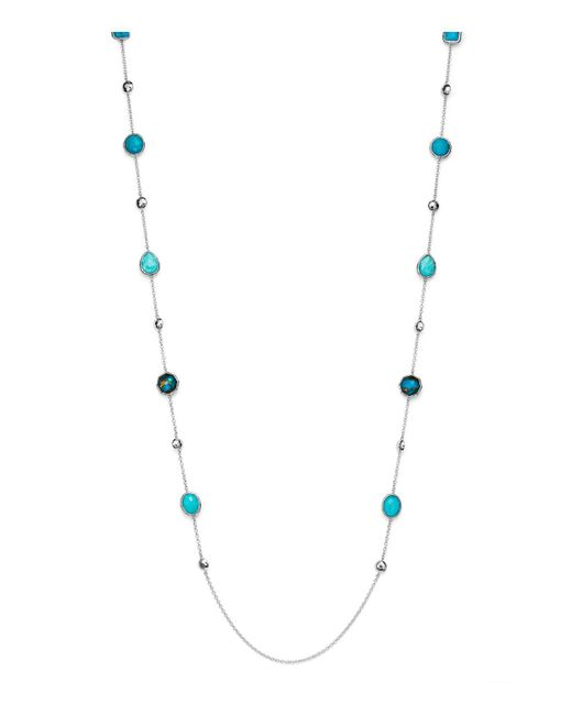 Ippolita | Blue Amazonite Doublet And Mixed Turquoise Station Necklace | Lyst