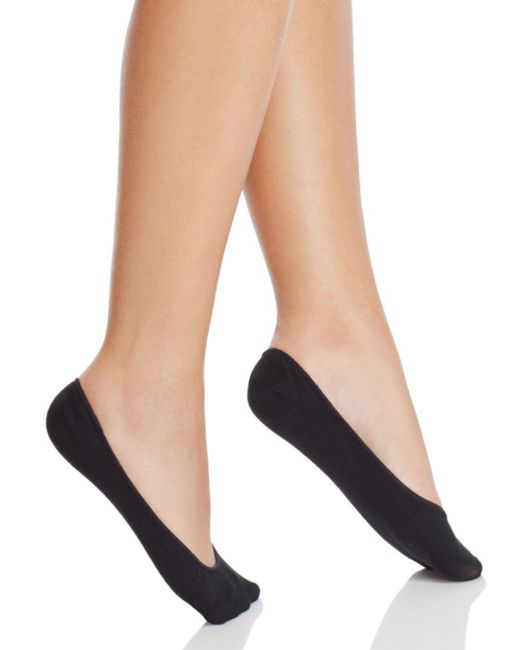 Hue - Black Classic Silicone Edge Liner Socks - Lyst
