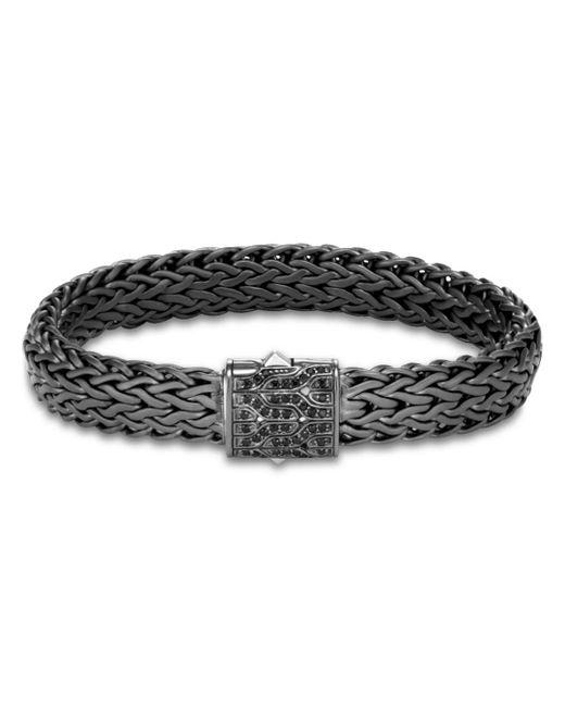 John Hardy - Metallic Men's Classic Chain Rhodium-plated Bracelet With Diamonds for Men - Lyst