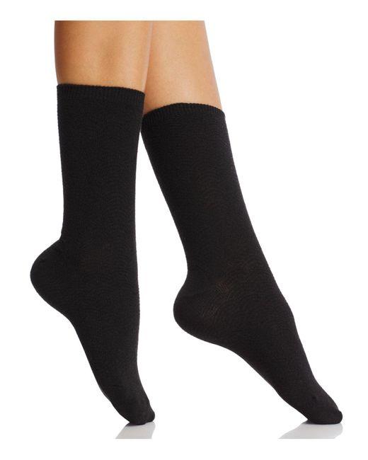 Natori | Black Iris Crew Socks | Lyst