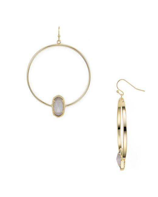 Kendra Scott - Metallic Elora Loop Drop Earrings - Lyst