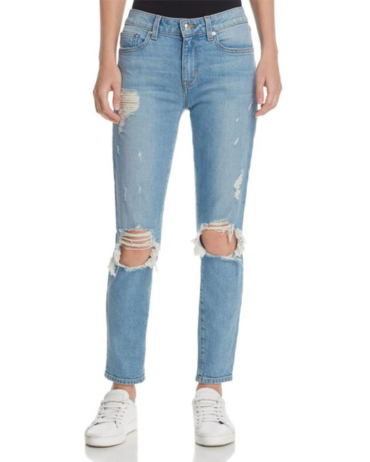 10 Crosby Derek Lam - Blue Devi Mid-rise Authentic Skinny Jeans In Light Wash - Lyst