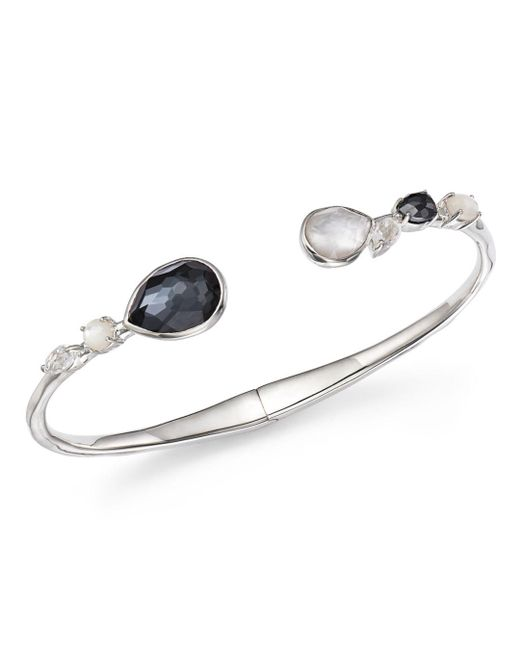 Ippolita - Multicolor Mother-of-pearl Doublet And Clear Quartz Open Bangle In Piazza - Lyst