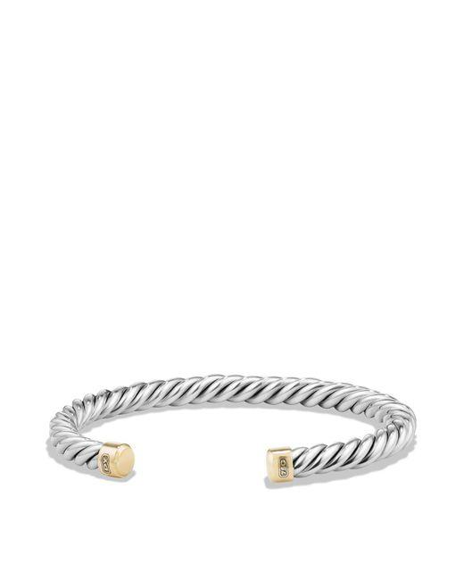 David Yurman | Metallic Cable Classics Cuff Bracelet With 18k Gold | Lyst