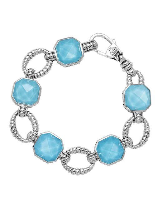 Lagos - Blue Turquoise Doublet Bracelet - Lyst