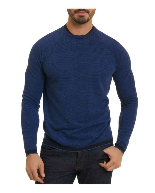 Robert Graham - Blue Ray Brook Crewneck Sweater for Men - Lyst