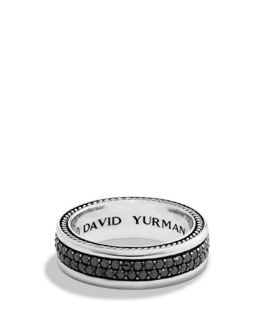 David Yurman - Streamline Two-row Band Ring With Black Diamonds for Men - Lyst