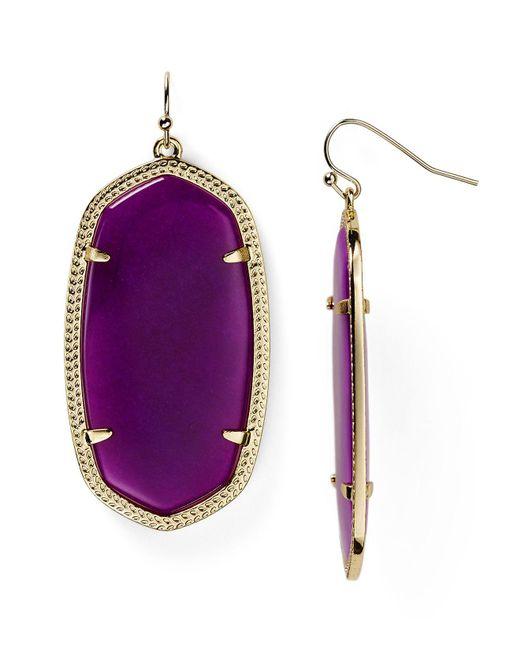 Kendra Scott - Purple Danielle Earrings - Lyst