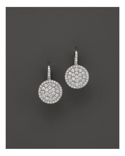 KC Designs | Diamond Disc Drop Earrings In 14k White Gold | Lyst