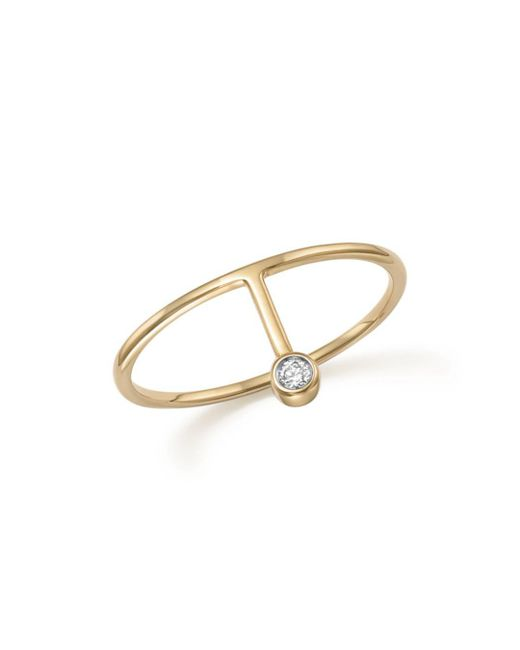 Mateo - Metallic 14k Yellow Gold Diamond Point Ring - Lyst