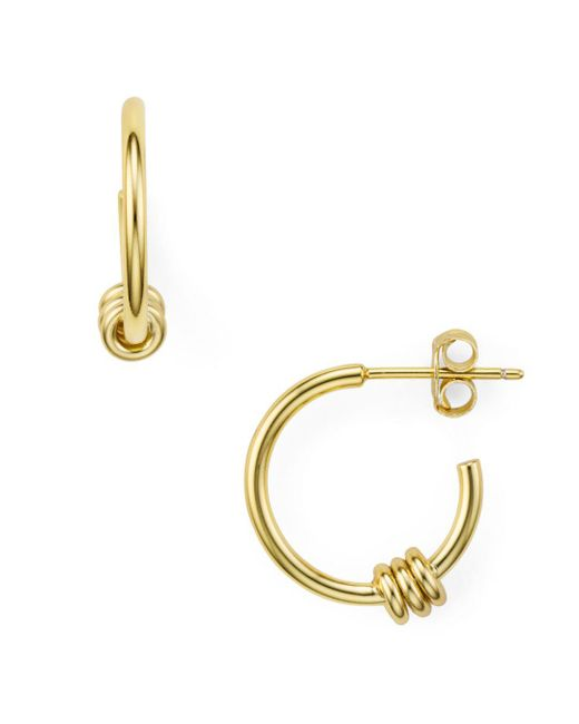 Argento Vivo - Metallic Links Small Hoop Earrings - Lyst
