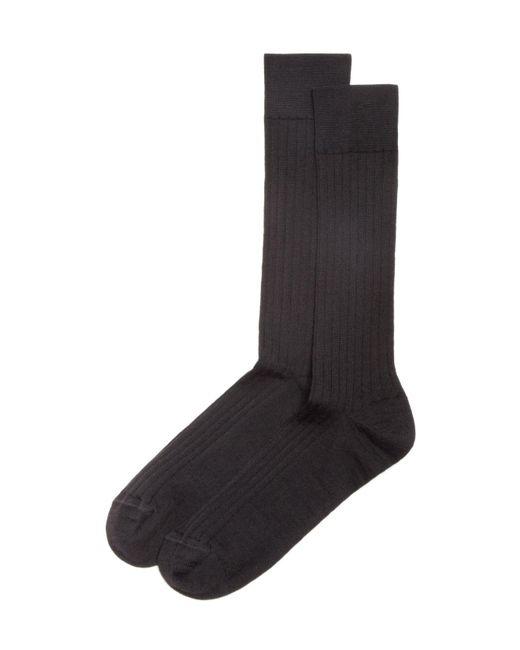 Bloomingdale's - Gray Ribbed Dress Socks for Men - Lyst