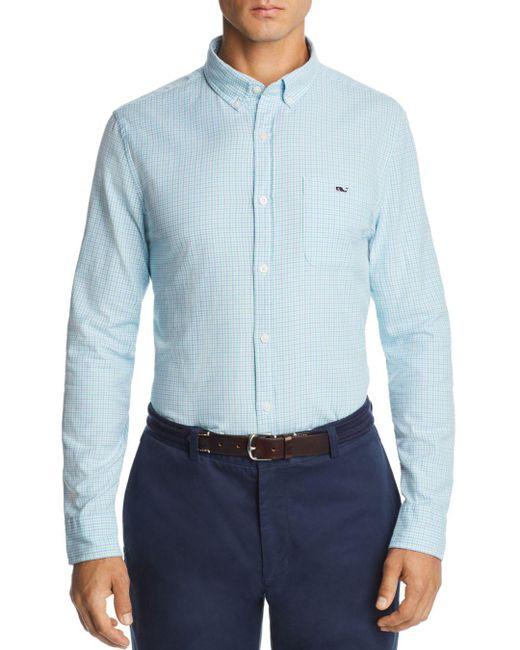 Vineyard Vines - Blue Belle Haven Plaid Slim Fit Button-down Shirt for Men - Lyst