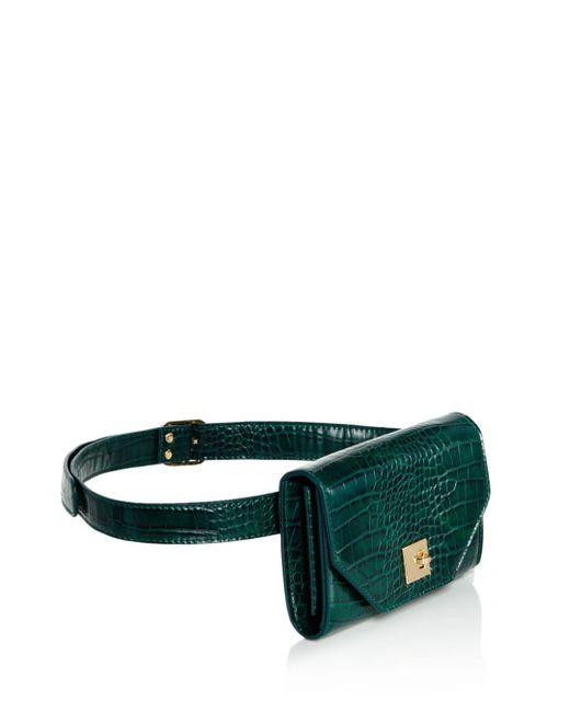 ... Aqua - Multicolor Medium Croc-embossed Convertible Belt Bag - Lyst ... 72bd38415f