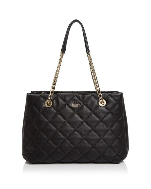 Kate Spade | Black Emerson Place Allis Leather Tote | Lyst