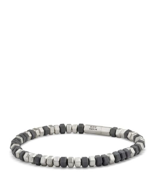 David Yurman - Metallic Hexagon Bead Bracelet In Grey - Lyst