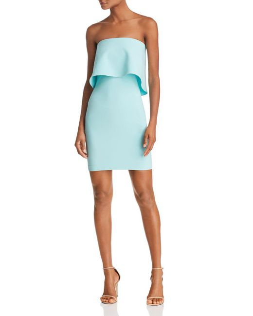 Likely - Blue Mini Driggs Strapless Dress - Lyst
